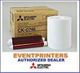 Mitsubishi CK-D746 4''x6'' media, paper & ribbon (total of 800 prints). For use with CP-D70DW, CP-D707DW and CP-D90DW printers. Comes with FREE SAMPLES of our best selling photo folders!
