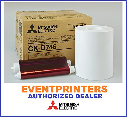 Mitsubishi CK-D746 4''x6'' media, paper & ribbon (total of 800 prints). For use with CP-D70DW, CP-D707DW and CP-D90DW printers. Comes with FREE SAMPLES of our best selling photo folders! by Mitsubishi Electric