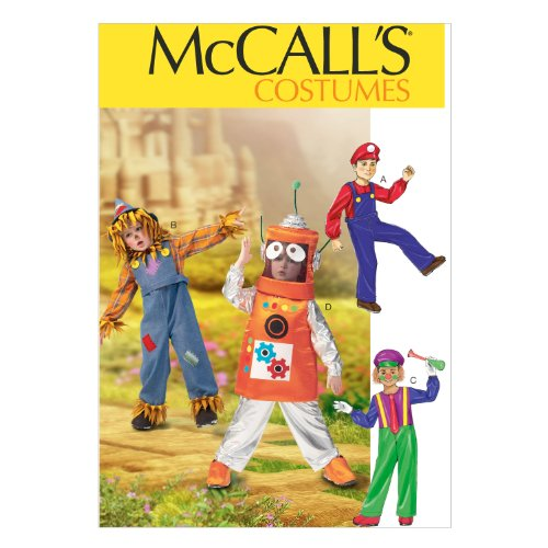 McCall Pattern Company M6814 Children's/Boys'/Girls' Costumes Sewing Template, Size CDD (2-3-4-5) (Clown Costume Patterns)