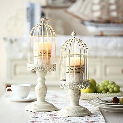 Vintage Vogelkafig Kerzenleuchter Dekoration Kerzenhalter Fur