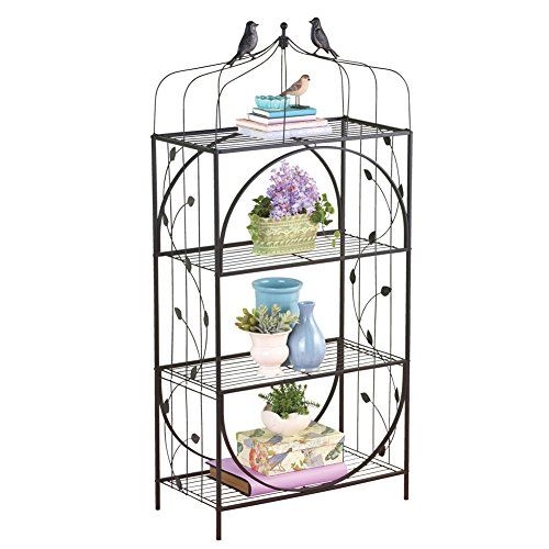 Birdcage 4 tiered Shelf Black Metal