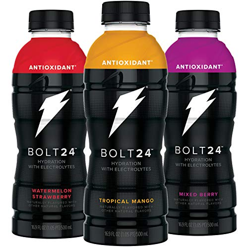 Gatorade BOLT24, Hydration with Antioxidants and Electrolytes, 3 Flavor Variety Pack, 16.9oz Bottles (Pack of 12) (Best Gatorade Mixed Drinks)