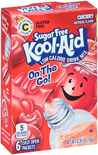 Kool-Aid On the Go, Sugar Free Cherry Drink Mix, 0.35 oz (Aid Flavor)