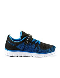 Offense YTH Boys Kids Running Shoes (Little & Big Kid Sizes) - Casual & Comfortable - Made from Knitted Textile Fabric - Perfect for School, Sport & Outdoor Activities in Spring Summer Fall