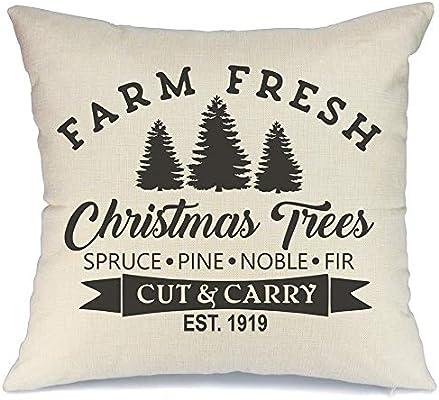 Amazon.com: AENEY Funda de almohada de Navidad de 7.1 x 7.1 ...