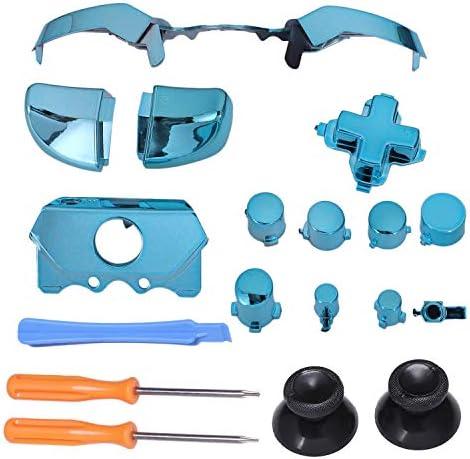 Noblik フルセット ゲームコントローラーのバンパー触発ボタンの取り替え付属品 ONE Elite D-Pad Lb Rt RtボタンT8H&T6ツール用(ブルー)