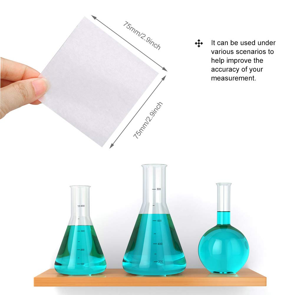 3x3inches Wellish 500pcs Weighing Paper Sheet Smooth Textured Non-Absorbent Non-Stick Square High-Gloss Lab Scale Litmus Paper for Scale//Balance Dish