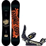 snowboard 155 package - Rome Factory Rocker Blem 155 Mens Snowboard + Rome Arsenal Bindings - Fits US Mens Boots Sized: 9,10,11