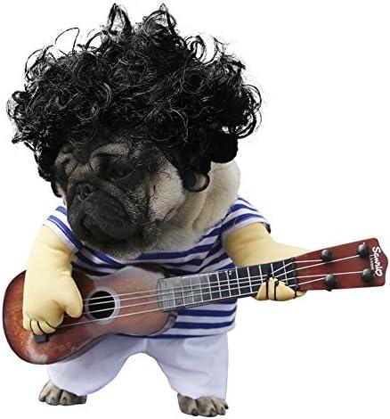 Cleana Arts - Disfraz de perro, para mascotas, estilo de guitarra ...