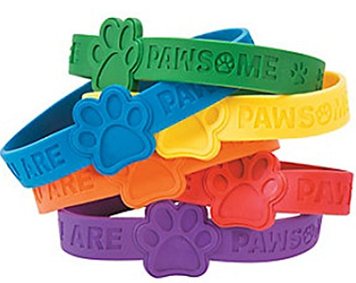 Paw Print Rubber Bracelets Pack