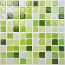 Tic Tac Tile - High Quality Peel and Stick Wall Tile in Square Lime Green (5)