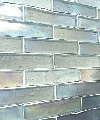 Handcut Glass Mosaic 1x4 Tresor Collection TM White Oyster Luster