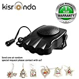 Kisronda® Car Heater Portable 30 Seconds Fast Heating Quickly Defrosts Defogger 12V 150W Auto Ceramic Heater Cooling Fan 3-Outlet Plug In Cig Lighter (Black)