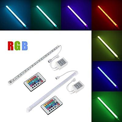 30CM RGB SMD 5050 LED Aluminum Alloy Shell Under Cabinet Lamp Strip Hard Rigid Light Tube Bar DC12V (Random: Cover)