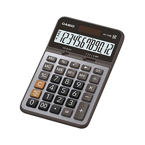 Calculadora Casio Compacta de Mesa 12 Dígitos AX-120B - Cinza