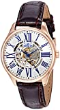 Invicta Women's 'Vintage' Automatic Stainless Steel and Leather Casual Watch, Color:Brown (Model: 23660)