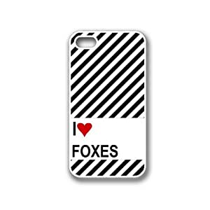 Love Heart Foxes White iPhone 4 Case - Fits iPhone 4 & iPhone 4S