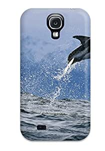 Protective Tpu Case With Fashion Design For Galaxy S4 (dolphins)