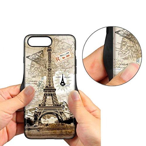 Housse MERES Iphone 7 plus, étui rigide en cuir PU Premium, motif mignon, design peint coloré, protecteur résistant aux rayures 5 couches pour iPhone 7 plus - Tower