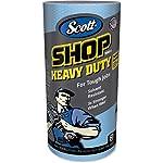"""Scott 32992 Pro Shop Towels, Heavy Duty, 1-Ply, Blue, 10 2/5"""" x 11"""" (Case of 12 Rolls)"""