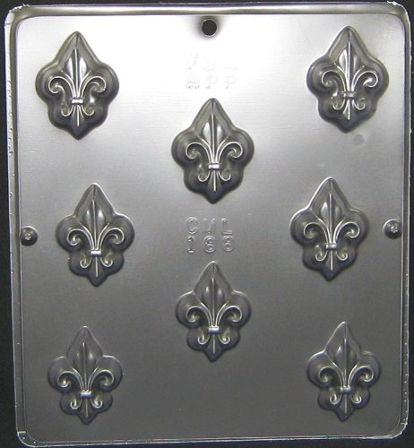 Candy Molds N More Fleur de Lis Chocolate Candy Mold, Model -