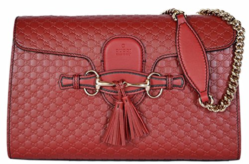 Gucci-Emily-Micro-GG-Burgundy-Guccissima-Red-Leather-Shoulder-Handbag-Bag-New
