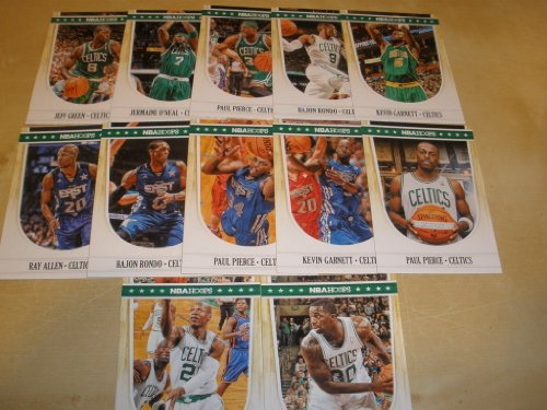 (2011/12 Panini Hoops Boston Celtics Team Set (12 Cards)- 2 Kevin Garnett, 2 Rajon Rondo, 2 Ray Allen, 3 Paul Pierce)