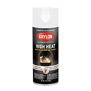 Krylon K01505000 High Heat Spray Paint, 12 oz., White