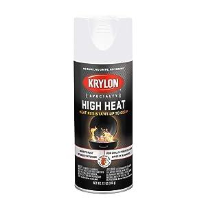 Krylon K01505000 High Heat Spray Paint, 12 oz., White