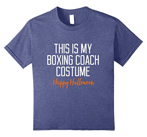 Halloween Boxing Costumes (Kids Funny Boxing Coach Costume Halloween T-Shirt 8 Heather Blue)