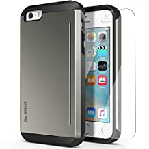 Obliq OB80102 Skyline Pro Bumper Dual Layered Case with Kickstand Card for Apple iPhone 5s & iPhone 5 - Gun Metal