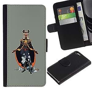 JackGot ( Emperador del Mal ) Apple iPhone 5 / iPhone 5S la tarjeta de Crédito Slots PU Funda de cuero Monedero caso cubierta de piel