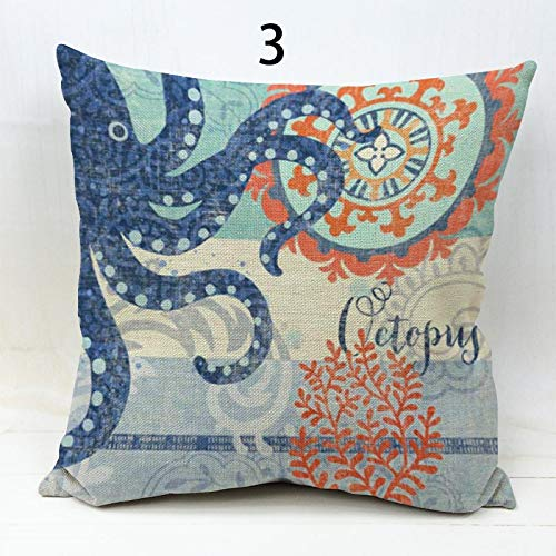Amazon.com: Sea Turtle Octopus Whale Starfish Throw Cushion ...