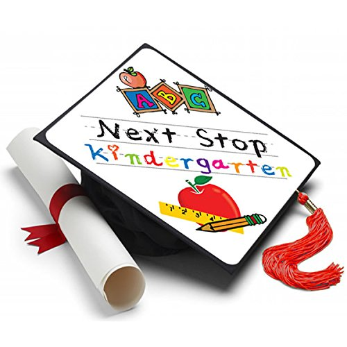 Tassel Toppers Next Stop Kindergaten Grad Cap Decorated Grad Caps]()