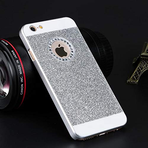 1 piece Sparkling Diamond Case For iPhone 8 Plus X 7 7Plus 6 6S 6Plus 6s plus Glitter Cover for iPhone 5S SE 5 with Shinning Logo Hole