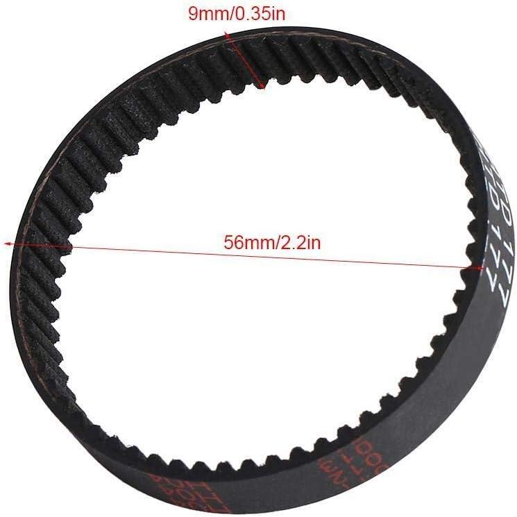9 mm Cepillo dentada Correa de transmisi/ón Goma for Decker negro KW715 KW713 BD713 177 Correa de goma