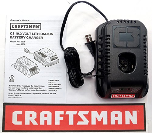 NEW CRAFTSMAN C3 19.2 VOLT LITHIUM-ION CORDLESS BATTERY CHARGER 5336 19.2V by prosperous1979