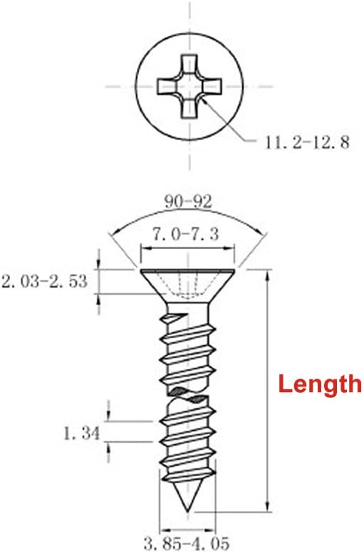 A2 Stainless Steel Phillips Flat Head Self Tapping Wood Screws DIN7982 6mm 20pcs//lot M6 M6 x 50mm