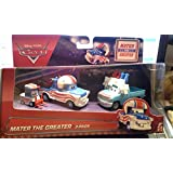 Disney / Pixar CARS TOON 1:55 Scale Die Cast Car Mater The Greater Cannonball Mater 3 Pack With Lug, Buck the Tooth Fairy