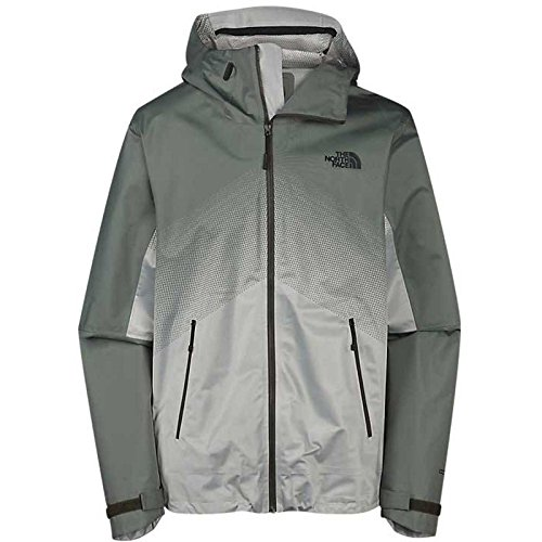 The North Face Men's Fuseform Dot Matrix Rain Jacket, Noah Green (Large)