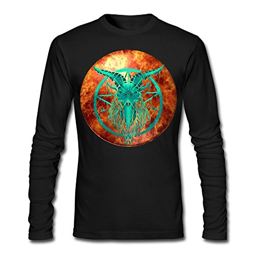 Men's Green Baphomet Long Sleeve Athletic Cotton Crew Neck - Clothing Versace Africa South