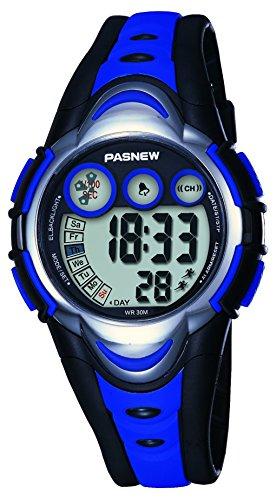 Unisex LED Light Digital Sports Wrist Watch - Blue - 3