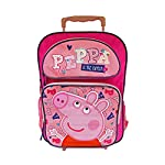 "Peppa Pig Girls Rolling 16"" Backpack - Peppa Is The Cutest Pink"