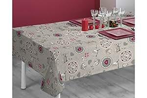 Sabanalia - Mantel de tela antimanchas Vintage (disponible en varias medidas) - 140 x 200