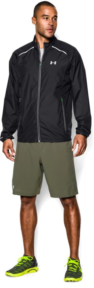 Under Armour Men's Storm Launch Run Jacket, Black (001)/Reflective, Large by Under Armour (Image #4)