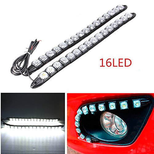 CHAMPLED® 16LED 2 Strips New Super Flexible LED DRL Daytime