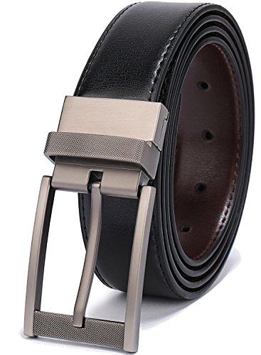 (Belts for Men Reversible Leather 1.25