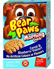 Dare Bear Paws Morning Snack Blueberry Cereal and Yogurt, 189-Gram