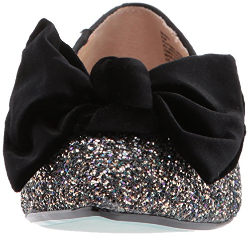 Blue by Betsey Johnson Women's Sb-Amory Ballet Flat Black Glitter VpWBuE