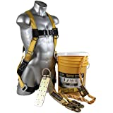 Guardian Fall Protection (Qualcraft) 00815 BOS-T50 Bucket of Safe-Tie with Temper Anchor, 50-Foot Vertical Lifeline Assembly and HUV
